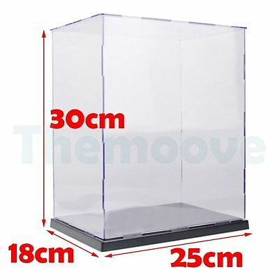 Acrylic / Plastic Display Case Self-Assembly Box Dustproof Protection Toy 30cm U