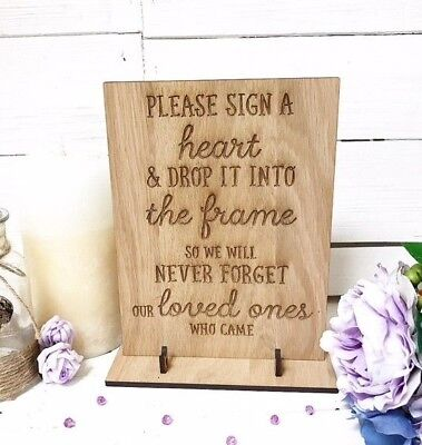 Wedding Drop box guest book sign Instructions Vintage Rustic Wood Style 02WS
