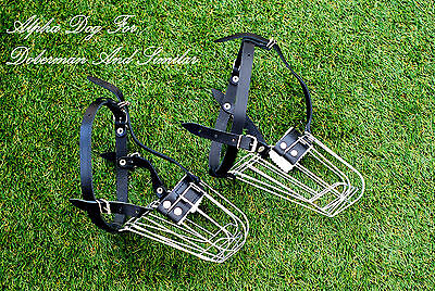 Strong Metal Wire Basket Dog Muzzle for Doberman , Malinois and Similar Dogs