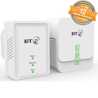 BT Essential Wi-Fi Powerline 500 Kit Pack of 2 in White