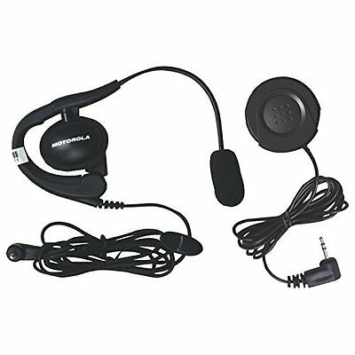 Motorola 1884 Push-to-Talk Button and Headset with Boom Microphone Bundle (Black