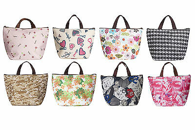 Insulated Tote Lunch Bag Box Cool Canvas Thermal Handbag Food Drinks Holder