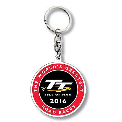Isle of Man TT 2016 large round keyring. Official TT Isle of Man Merchandise!