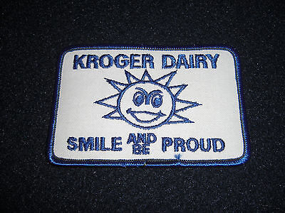 Kroger Dairy Smile And Be Proud Patch Vintage 1980's