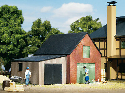 Auhagen 11408 NEW HO SMALL WAREHOUSE WITH GARAGE