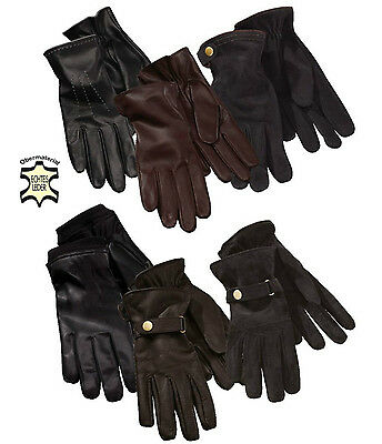 TOP Luxury Damen Herren Lederhandschuhe Leder Handschuhe Winter Wildleder Velour