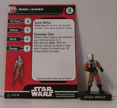 Rebel Pilot 20/60 Star Wars Miniatures Minis Alliance And Empires A&E