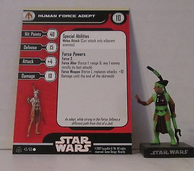 Human Force Adept 45/60 Star Wars Miniatures Minis Alliance And Empires A&E