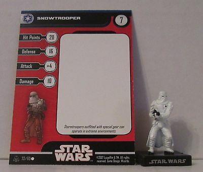 Snowtrooper 32/60 Star Wars Miniatures Minis Alliance And Empires A&E