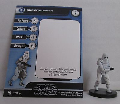 Snowtrooper 39/60 Star Wars Miniatures Minis Force Unleashed