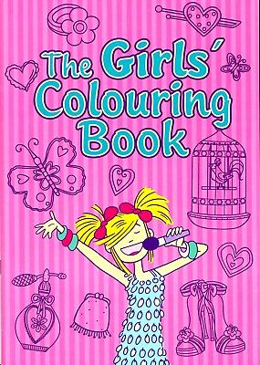 Brand New Girl's Colouring Book Fun Learning Creative Fashion Designs 48 Pages