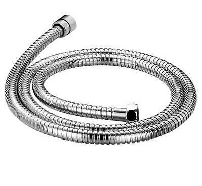 Chrome Shower Hose 1.5m & 2m Flexible Stainless Steel Bath Pipe Replacement Tube
