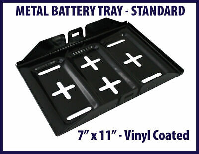 """Metal Battery Tray Vinyl Coated Rust & Corrosion Resistant 7"""" x 11"""" #F676"""