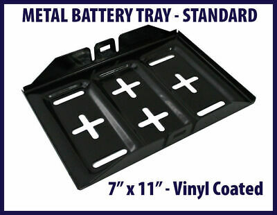 "Metal Battery Tray Vinyl Coated Rust & Corrosion Resistant 7"" x 11"" #F676"