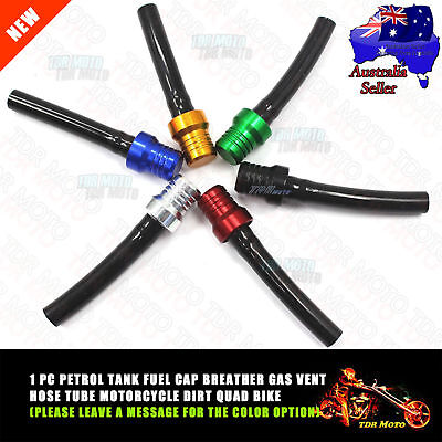 ATV QUAD MX PIT DIRT BIKE GAS FUEL CAP VENT HOSE BREATHER VENT Color Choose