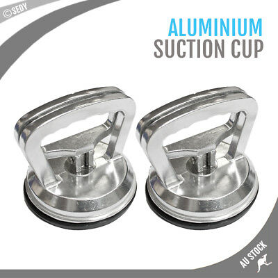 2x Alloy Dent Puller Suction Cup Carrier Pad Metal Glass Car Lifter Remover