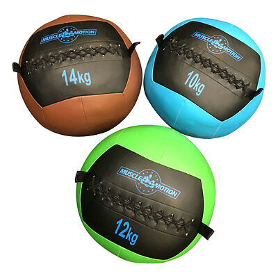 Muscle Motion 10kg, 12kg & 14kg Wall Ball Package For Gym Fitness Crossfit