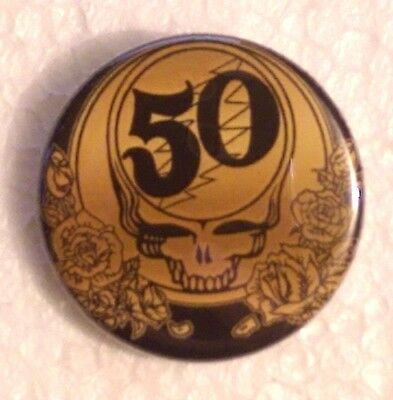 """1.25"""" GRATEFUL DEAD 50th ANNIVERSARY Button Pinback OFFICIALLY LICENSED"""