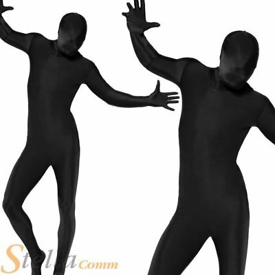 Skin Tight Black Second Skin Fancy Dress Costume Lycra Bodysuit Zentai