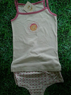 Girls Forever Friends Vest And Crop Top With Knickers Brief Set Ages 3-12 Years