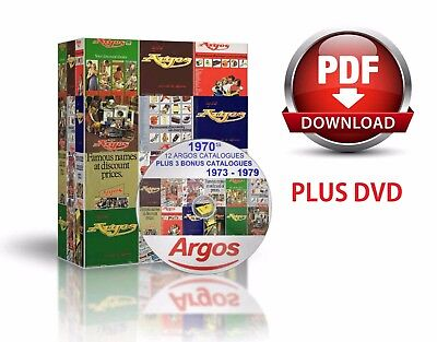 1970S Updated 12 Argos Catalogues +3 Bonus Catalogues On Dvd In Pdf Format