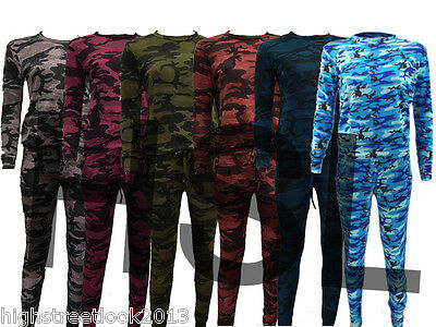 New Women Army Camouflage Pattern Two Piece Lounge Wear Tracksuit  Jogging Suit