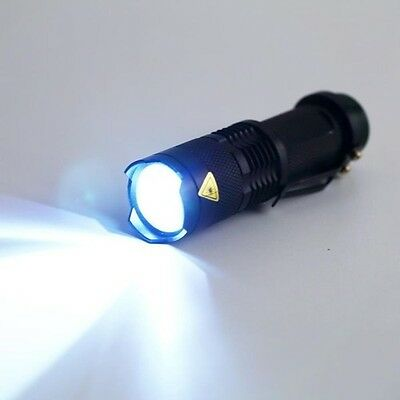 CREE Q5 7W 2000LM 3 Modes Zoomable LED Flashlight Torch Adjustable Light Lamp