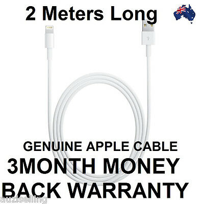 Original Genuine 2M Apple Lightning Data Cable Charger for iPhone X 6S 7 8 iPad