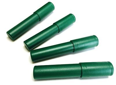 4 Green Telescoping Airtight Travel Tubes Humidor for Cigars By Le Tube
