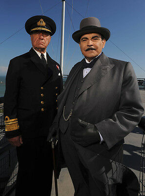 Geoffrey Palmer & David Suchet UNSIGNED photo - P1502 - Poirot