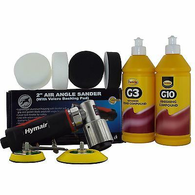 "75mm (3"") Mini Air Polisher Kit + Farecla G3 & G10 Compound/Polishing Foam Head"