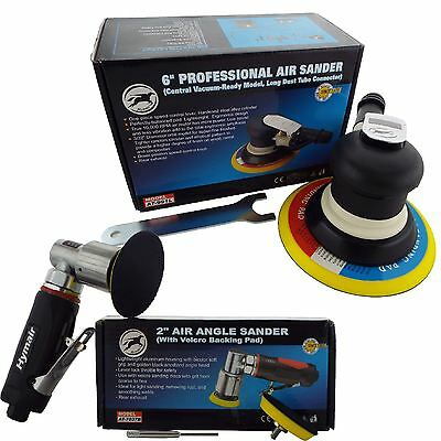 "150mm 6"" Professional Palm + 75mm 3"" Mini Angle Air DA Sander/Polisher Set"