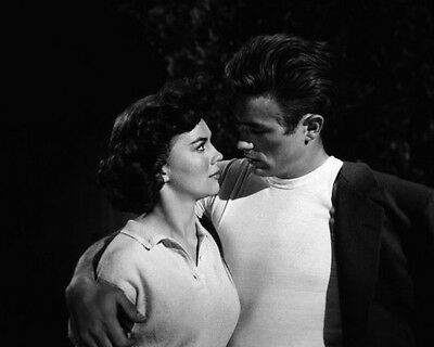 James Dean & Natalie Wood ‏ 10x 8 UNSIGNED photo - P499 - Rebel Without A Cause