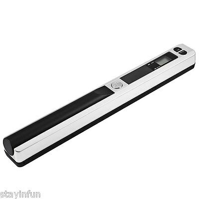Mini 900DPI Handhold Scanner Portable HandyScan A4 Book Photo Document White New