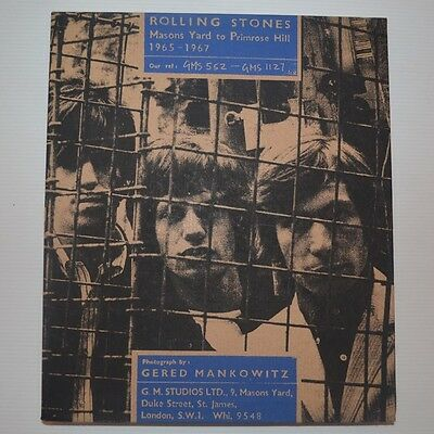 Rolling Stones - Mason's Yard To Primrose Hill 65-67 - 1995 Book Genesis Publ.