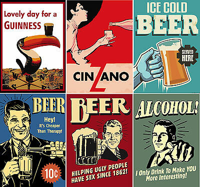 Vintage Drinks Posters, Cinzano Beer Posters Upto A1 Size,  Frames Available