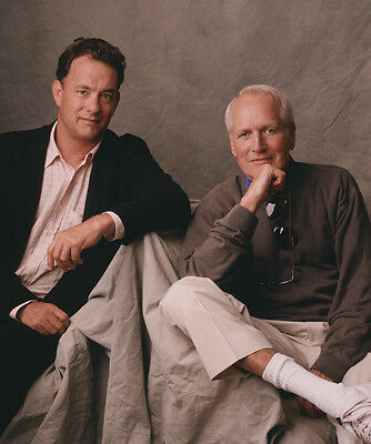 Tom Hanks and Paul Newman  10x 8 UNSIGNED photo - P766 - HANDSOME!!!!!