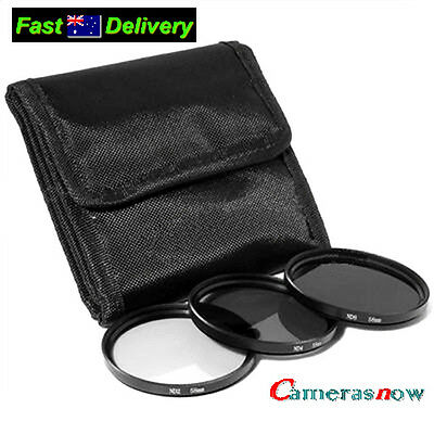 58mm Neutral Density Filter Kit ND2 ND4 ND8 Case for Canon 28-80mm 28-90mm lens