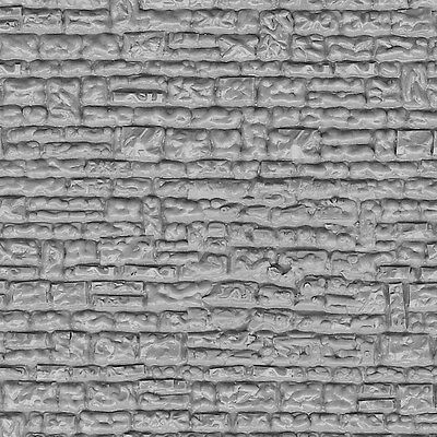 Vollmer 46031 NEW HO STONE WALL  MOULDED PLASTIC SHEET 218X119MM