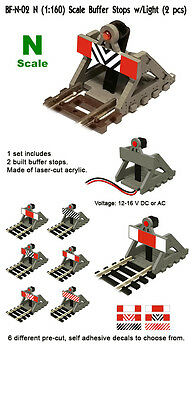 Proses BF-N-02 NEW 2 X N SCALE BUFFER STOP W/LIGHT