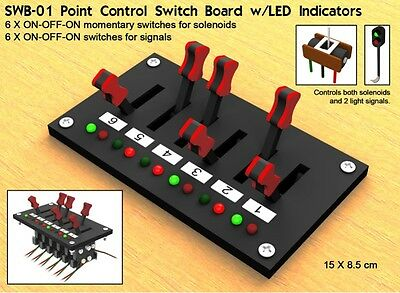 Proses SWB-01 NEW POINT CONTROL SWITCH BOARD W/LED INDICATORS (6 SWITCHES)