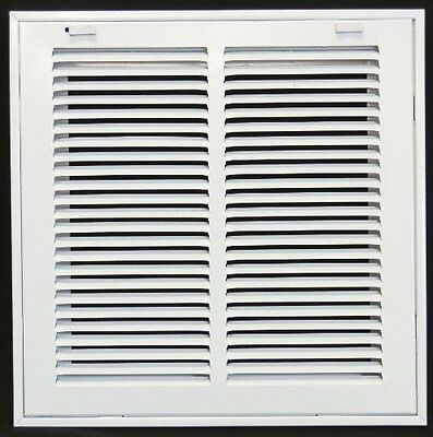 """12w"""" x 12h"""" RETURN FILTER GRILLE - HVAC Dcut Cover - Flat Stamped Face"""