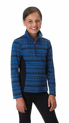 Kerrits Kids Bit of Horse Zip Neck Shirt-Blue Sky-M