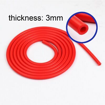 """3MM 1/8"""" inch Red Universal Silicone Air Vacuum Hose/Line/Pipe/Tube 10 FOOT"""