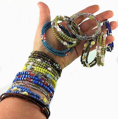 Belly Dancer Bangles Braclets Arm Band Wraps 14 pieces Flexi Wire Gypsy Festival
