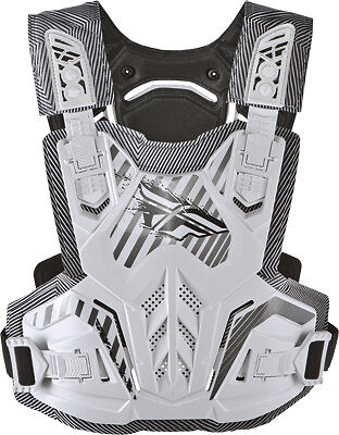 Fly Racing White Pivotal Youth Roost Guard Motocross Riding Chest Protector