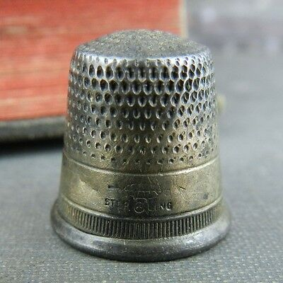 Webster Co. Sterling Silver Thimble #6
