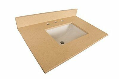 7615-TOP-CM 30-Inch- Beige Quartz Counter Top with Rectangular Sink-
