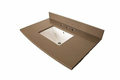 7612-TOP-GY 36-Inch- Gray Quartz Counter Top with Rectangular Sink