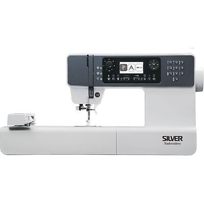 Silver Embroidery Machine 404 Built-in Stitches Designs Alphabets UBS Transfer